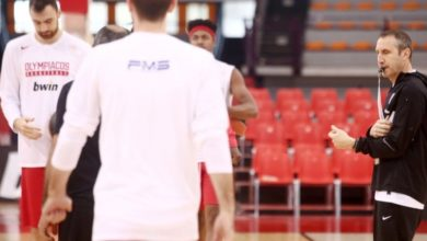 Mπάσκετ: Προπόνηση στον Ολυμπιακό ενόψει... ΑΣΕΑΔ