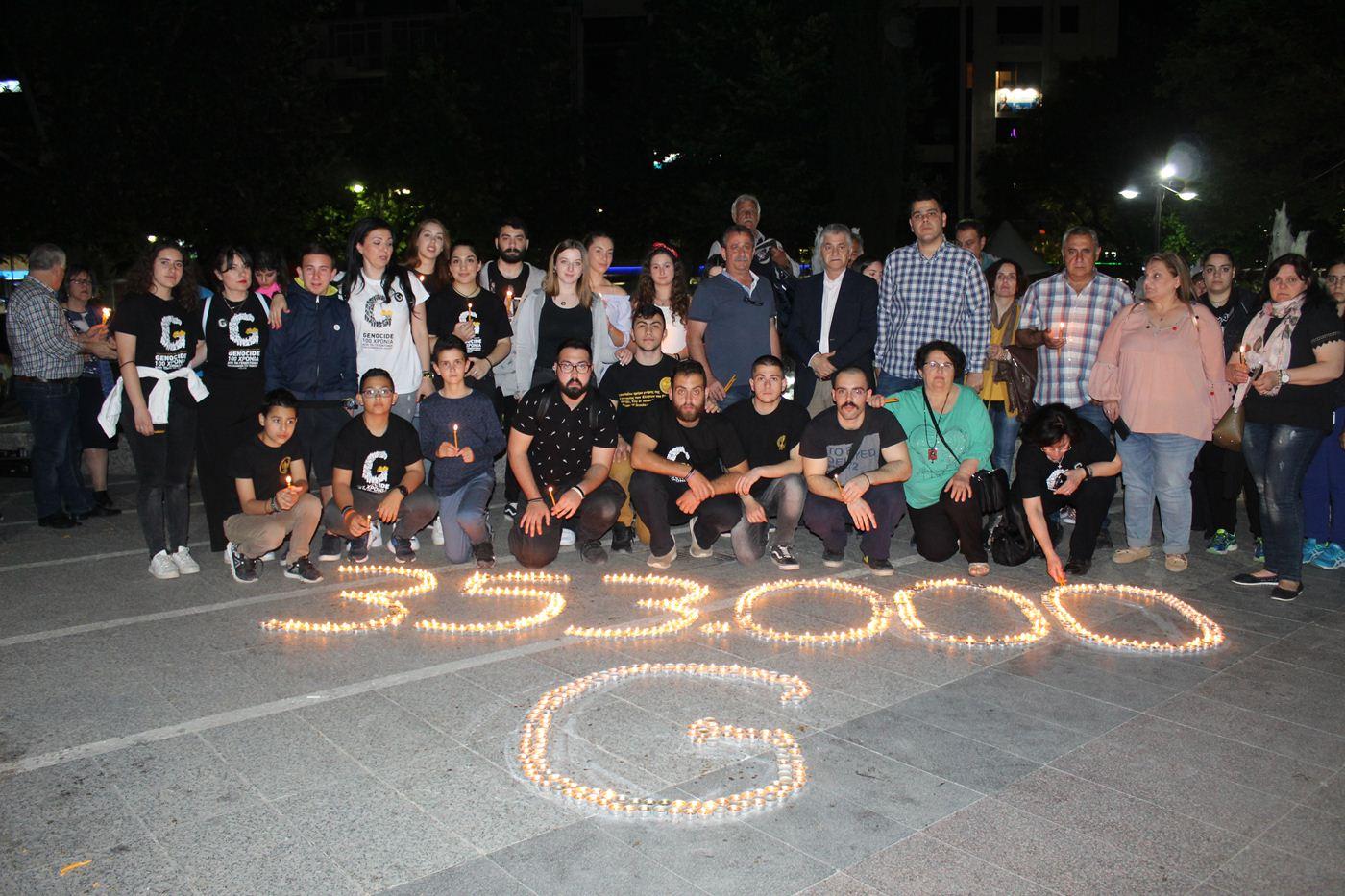 353.000 θύματα, 100 χρόνια μετά - Η ποντιακή νεολαία της Λάρισας τίμησε τους νεκρούς της Γενοκτονίας (φωτο)