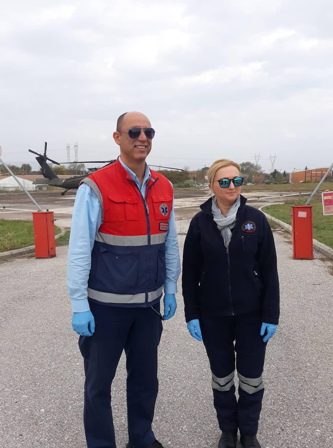 Αεροδιακομιδή Αμερικανού στρατιώτη στο Πανεπιστημιακό της Λάρισας - Φωτό και βίντεο από εντυπωσιακή άσκηση