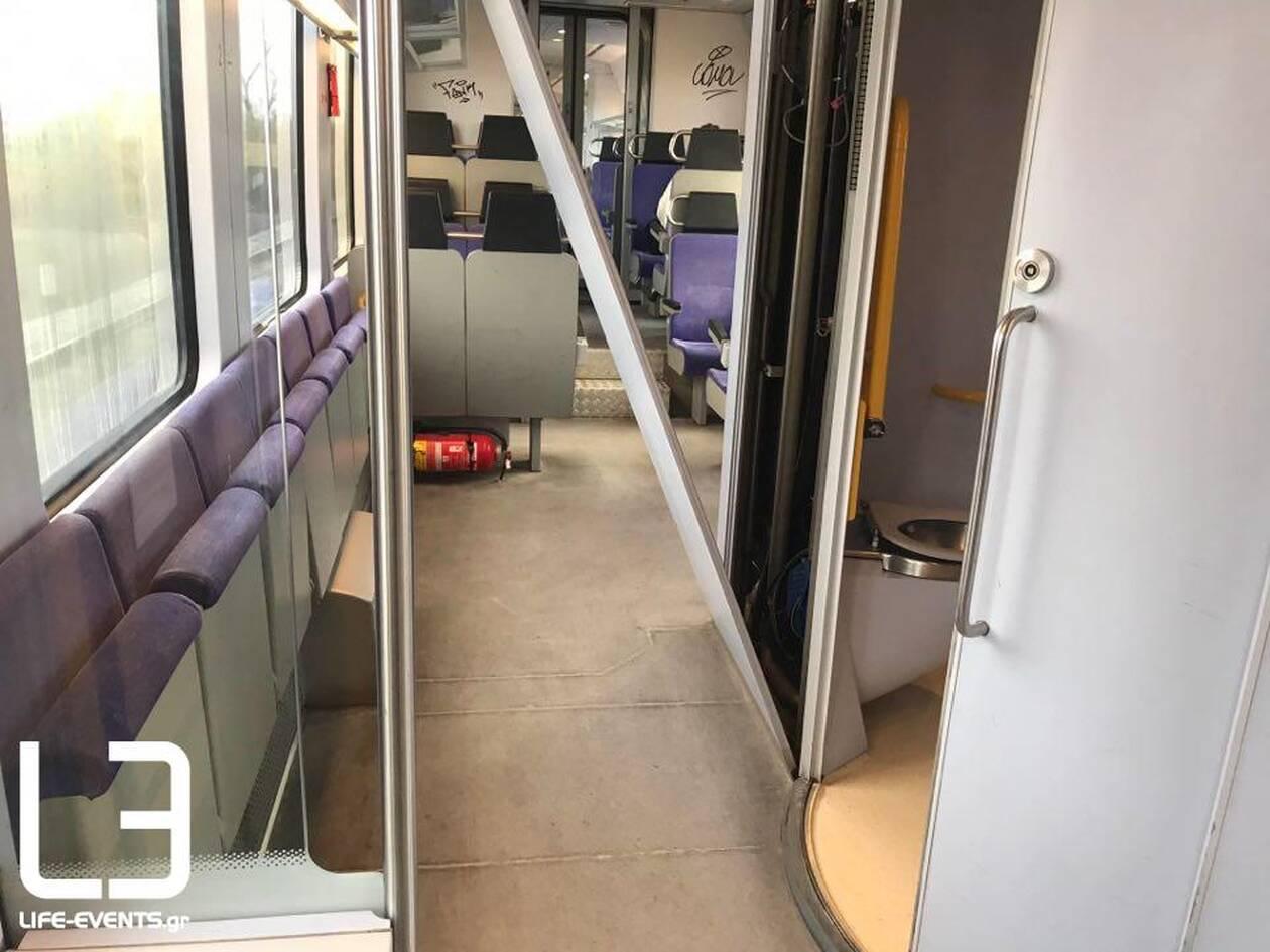 Ευτράπελο στο τρένο από Λάρισα για Θεσσαλονίκη: Απίστευτα πράγματα στις τουαλέτες (φωτό)