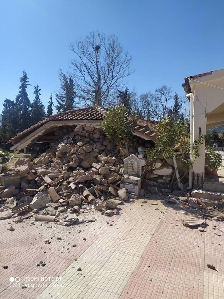 Σεισμός στην Ελασσόνα: Κατέρρευσε μεγάλο μέρος Εκκλησίας στο Μεσοχώρι