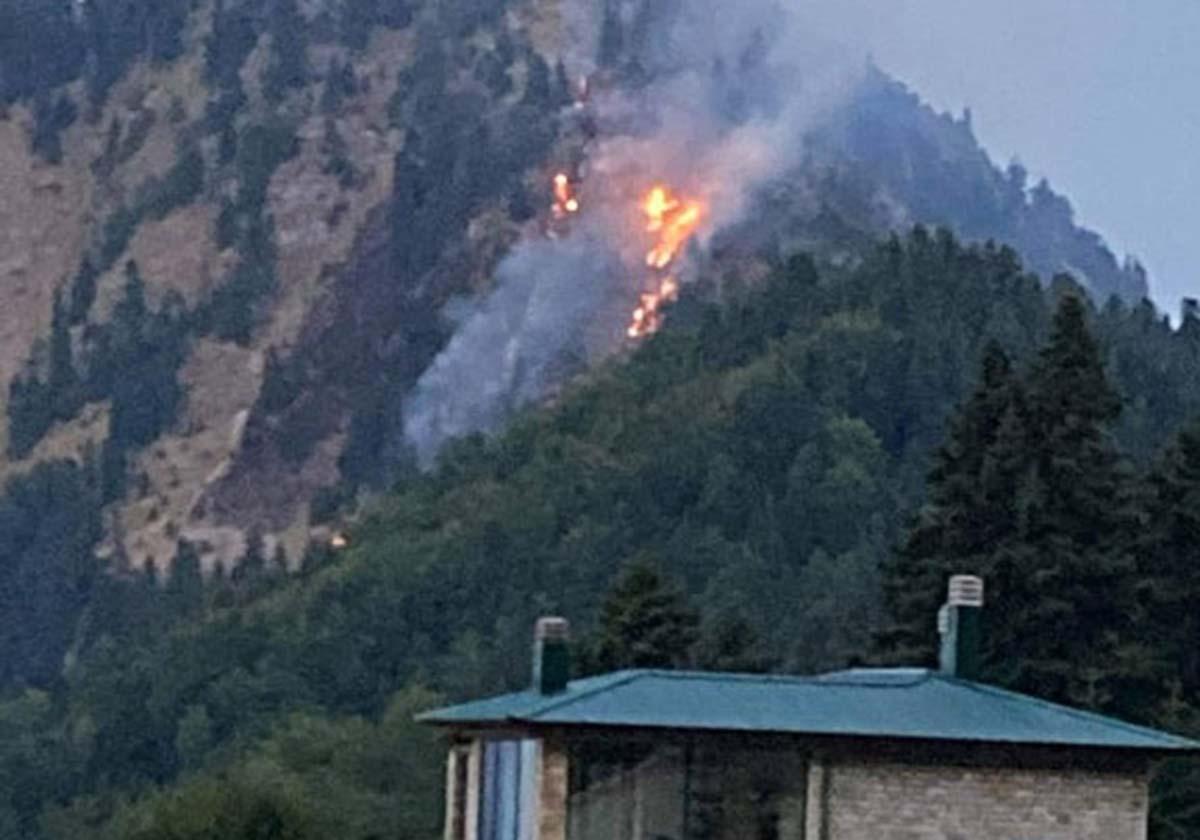 stournareika 3 - Φωτιά στα Στουρναρέικα Τρικάλων – Σε απρόσιτο σημείο πάνω από δάσος
