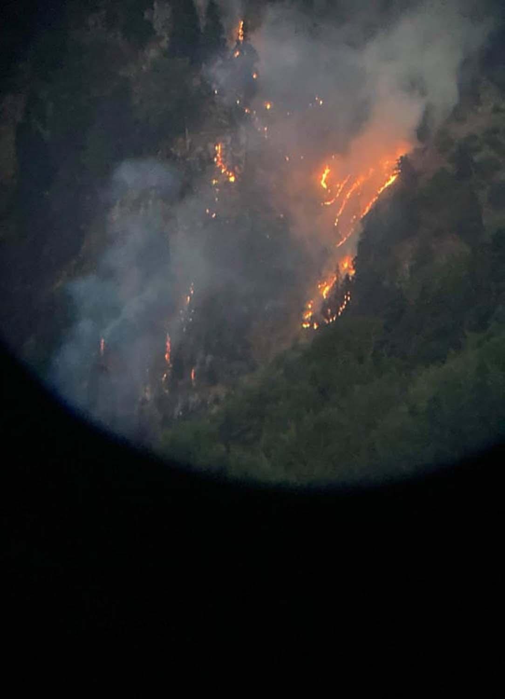 stournareika fotia - Φωτιά στα Στουρναρέικα Τρικάλων – Σε απρόσιτο σημείο πάνω από δάσος
